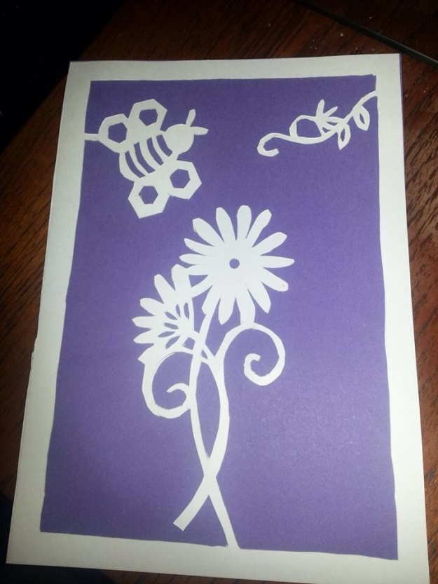 Paper cutting - Manchester Bee with Cottonopolis Women's Institute - http://www.cottonopoliswi.com/