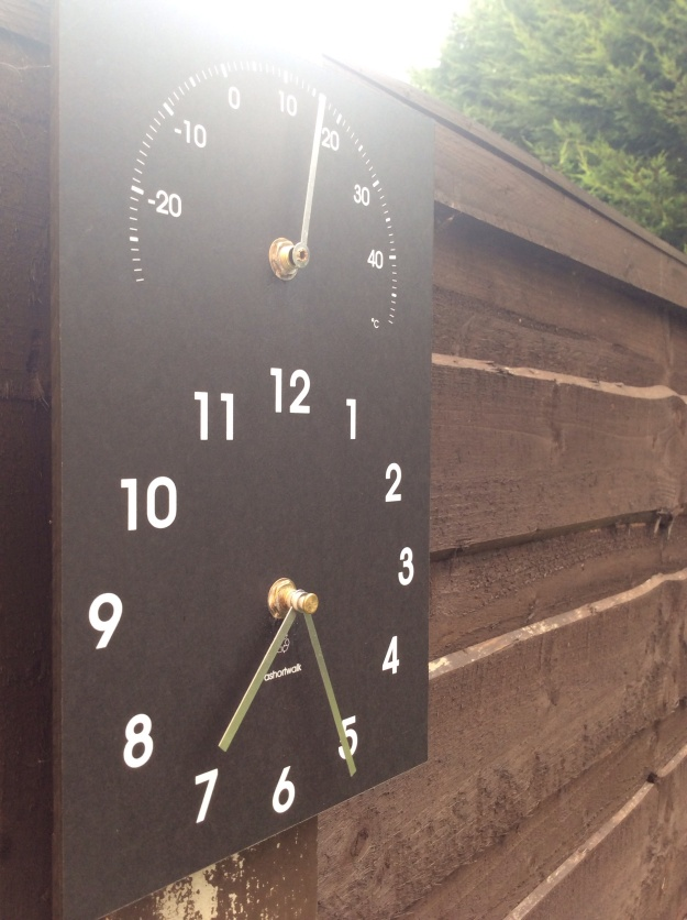 Eco clock - ashortwalk.com photo copyright R Jones