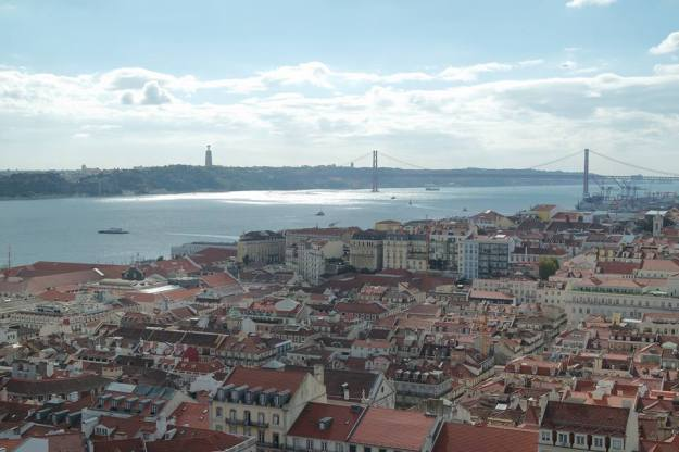 Lisbon by day - the view from the castle