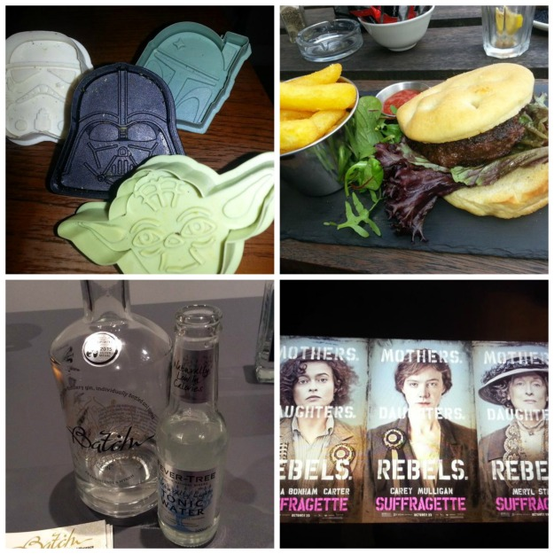 star wars cookie cutters, lunch at Kro, Batch Gin, suffragette film