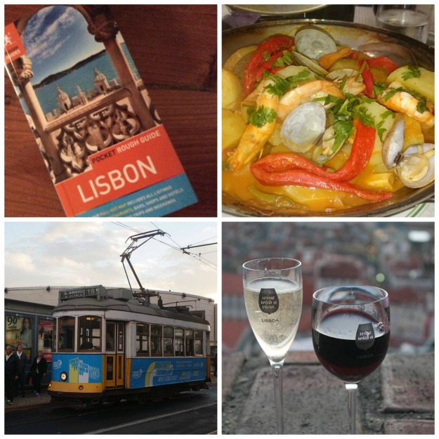 lisbon guide (6/100), fish stew (7/100), tram (8/100), wine at the castle (9/100) #100happydays