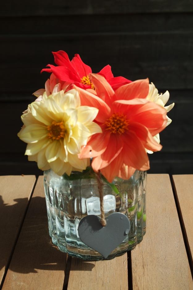 dahlias #100happydays in a vase on monday