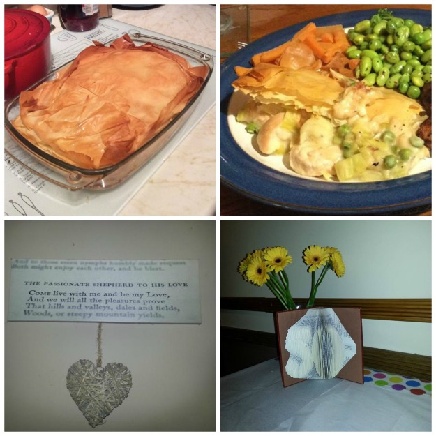 #100happydays 39/100 chicken and leek pie 40/100 The Passionate Shepherd to his love, 41/100 50th birthday