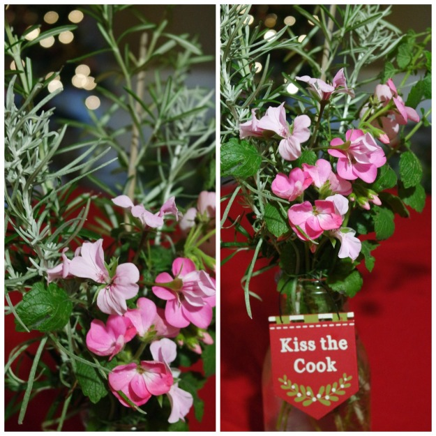 In a vase on Monday - rosemary, mint, curry plant - 30 December 2015