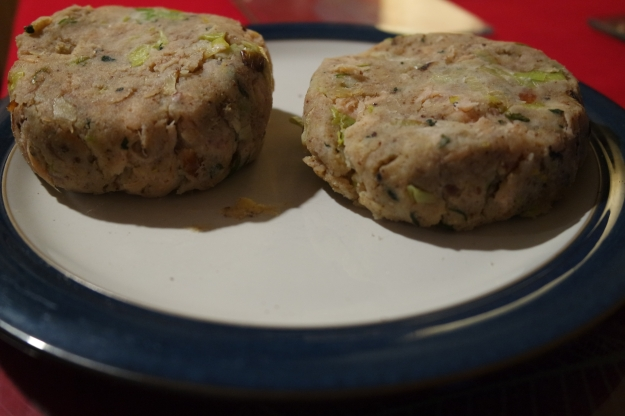 Loch Fyne smoked salmon fishcakes handmade by my Chap - #100happydays