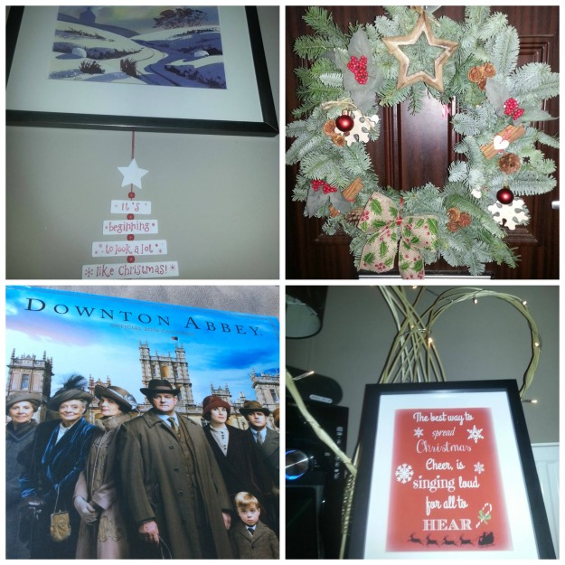 #100happydays 51/100 it's beginning to look alot like christmas, 52/100 door wreath 53/100 downton abbey 54/100 quote about elf