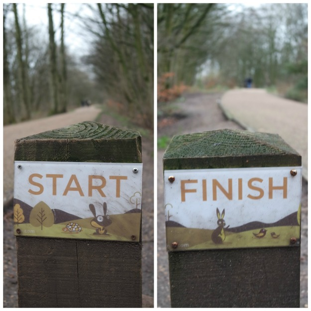 Worsley Woods Parkrun Marker - 1 January 2015