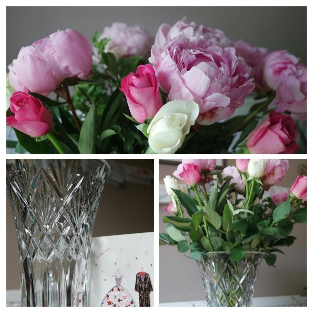Vase with peoni