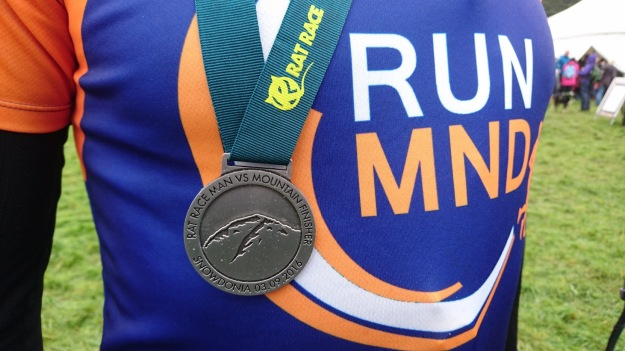 RunMND shirt motor neurone disease association medal Man v mountain 2016