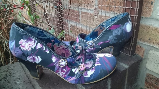 Purple floral candy whistles Irregular Choice.